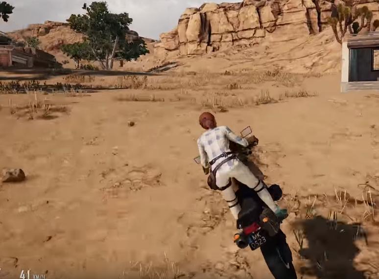 как управлять мотоциклом в воздухе в pubg