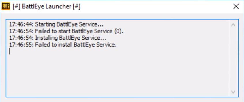 Как исправить BattlEye Launcher не запускается в PUBG