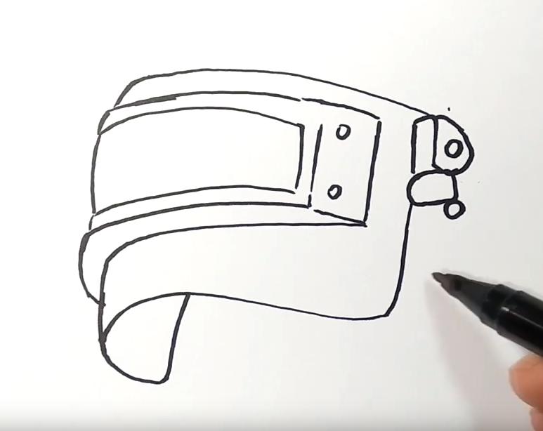 Как нарисовать шлем из PUBG