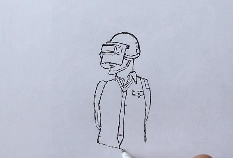 Как нарисовать главного персонажа из игры PUBG